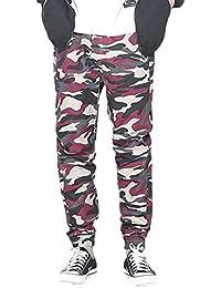 Idopy Pantalones capri de hombre Pantalones informales de cintura elástica