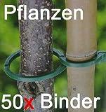 Pflanzenbinder aus Kunststoff ca. 50 Stück, Pflanzen Binder Halter Stecker Hilfe (LHS)