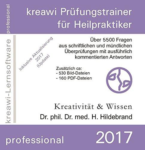kreawi-Prüfungstrainer professional für Heilpraktiker 2017, 1 CD-ROM