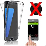 galaxy s7 edge Coque Gel Protection totalement transparente integrale housse 360 samsung