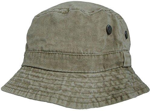 Hommes or Pour femmes 100% Coton Bucket Chapeaux pré-lavé aspect délavé Chapeau De Brousse Soleil Bob Kaki