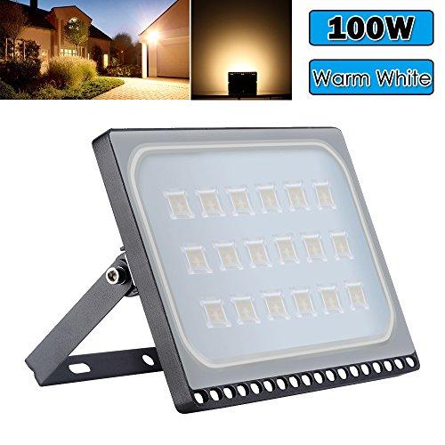 Foco LED exterior 100w con luz cálida IP65