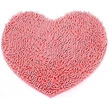 Esponjoso Oh tu corazón alfombra baño Dormitorio suave en forma de alfombra alfombras
