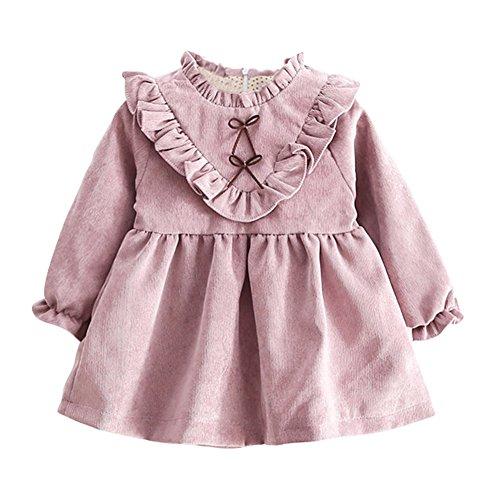 Baumwolle Casual Longsleeve Prinzessin Kleid (Prinzessin Kleid Für Babys)