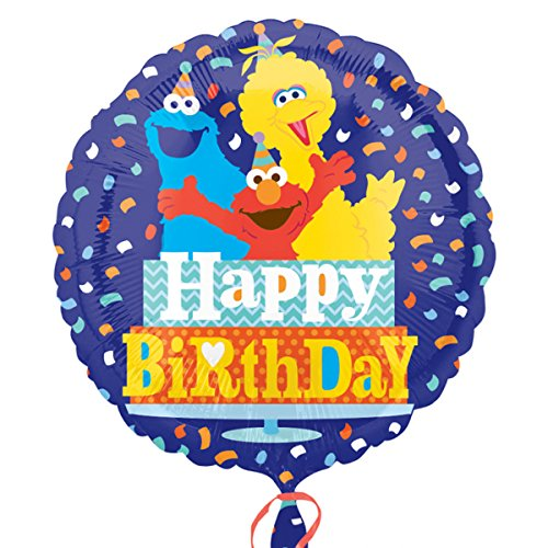 Amscan Standard-C Sesame Street Geburtstag Co Ballon (Street Banner Sesame)