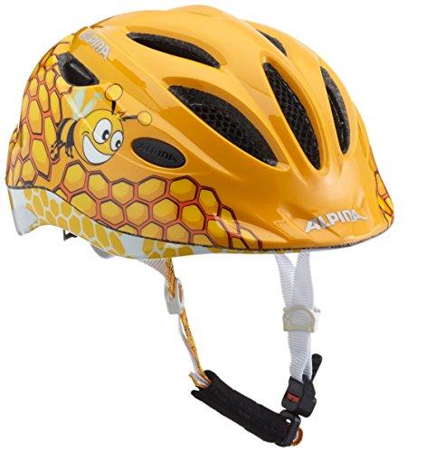 ALPINA Mädchen Gamma 2.0 Flash Fahrradhelm, Honeybee, 46-51 cm