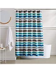 AmazonBasics Watercolor Striped Shower Curtain