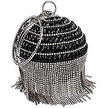 Bolsos de embrague de noche pequeños para mujer Bolso de noche para mujer con flecos en