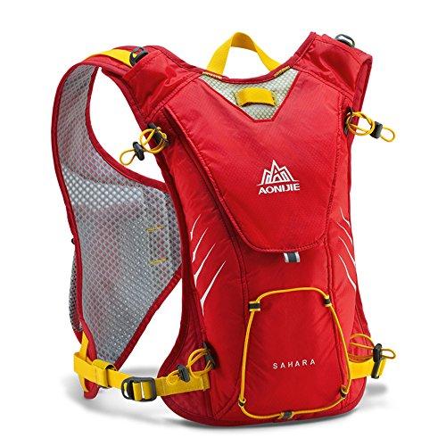 Imagen de aonijie exterior  funcional ultralight racksack unisex deportes hombro bolsa de agua unidades, rojo