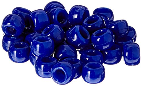 The Beadery 6 by 9mm Barrel Pony Bead, Royal Blue, 900-Pieces