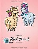 Strickbuch: Strick Journal, Strickmusterheft, Strickpapier Buch, Seiten Kariert und Blanko