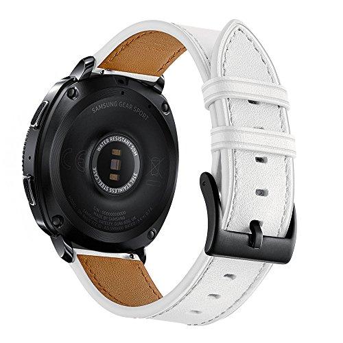 Aottom pour Bracelet Garmin Vivoactive 3,Bracelet Gear Sport Cuir Samsung Galaxy Watch Active Band de Sport Bande Remplacement avec Metal Acier Fermoir pour Samsung Gear Sport/Galaxy Watch Active