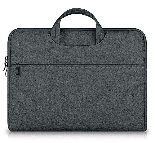 """elebaby Laptop Bag impermeabile Custodia portatile per tutti i 15-15.6Pollici Laptop/Notebook/Computer/Macbook Pro 15.4""""/Macbook Pro con display retina, Asus, Acer, Dell, HP, Lenovo, Toshiba 15.4Valigetta ventiquattrore borsa, colore grigio scuro"""