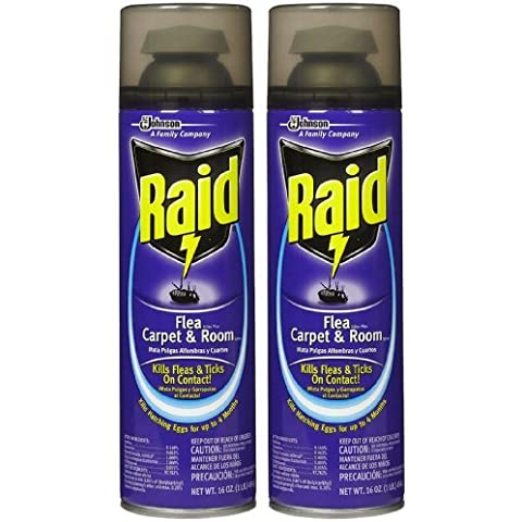 Raid Flea Killer Plus, Carpet & Room Spray, 16 oz-2 pk by Raid