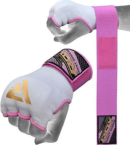 guanti fit boxe donna RDX Fasce Boxe Donna MMA Guanti Interi Sottoguanti Bende per Mani Polsi Elastiche Pugilato Bendaggi