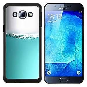 For Samsung Galaxy A8 A8000 - teal water sea aquarium grey white liquid /???¡¯??????¡ãtui de protection en plastique dur design Slim Fit Cover/ - Super Marley Shop -
