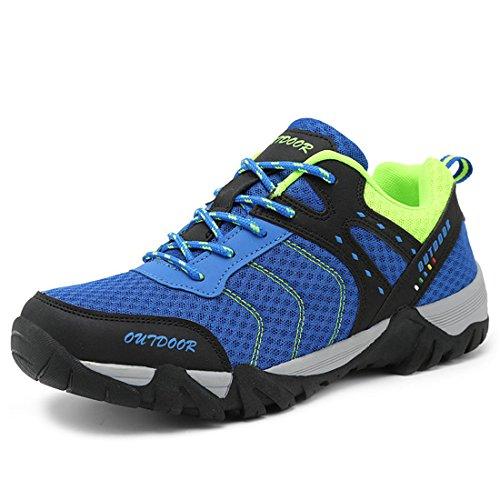 ailishabroy Männer Laufschuhe Breathable Outdoor Sport Schuhe Herren (43 EU, Blau)