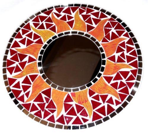 Espejo-de-mosaico-de-30-cm-de-madera-diseo-de-sol-artesano-color-rojo