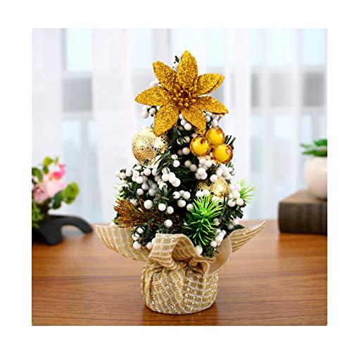 Jspoir Melodiz Weihnachten Schreibtisch Dekoration 20cm Mini Weihnachtsbaum für Home Office Shopping Mall Bars Dekoration