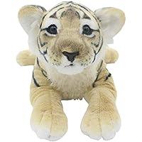 TAGLN Peluches Juguetes Tiger Animales Leopardo Guepardo León Pantera Almohadas (Tigre Marrón, ...