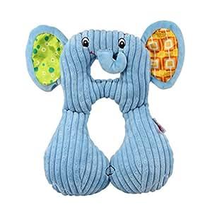 quner baby kinder nackenkissen mit st tzfunktion u f rmiges nackenh rnchen blauer elefant form. Black Bedroom Furniture Sets. Home Design Ideas