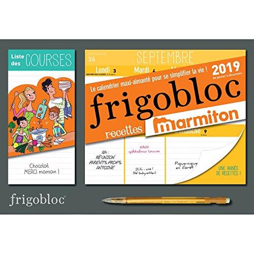 Mini Calendrier FrigoBloc hebdo Marmiton - Janvier décembre 2019