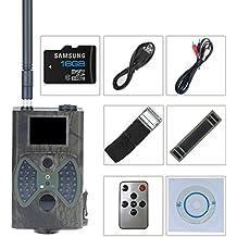 """Vinteky Cámara de 12MP 1080P Digital Juego Cam Trail con Integrado 2 """"LCD Pantalla de Visión, de Largo Alcance de Visión Nocturna, de Alta Sensibilidad de Detección de Movimiento (Con antena y MMS función)"""