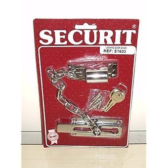 Chaîne de porte chromée Protection 2clés de sécurité