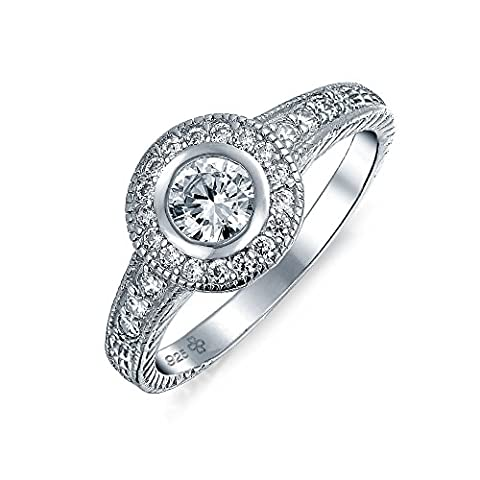 Sterling Silver 1.5ct Solitaire CZ Circlet Engagement Ring