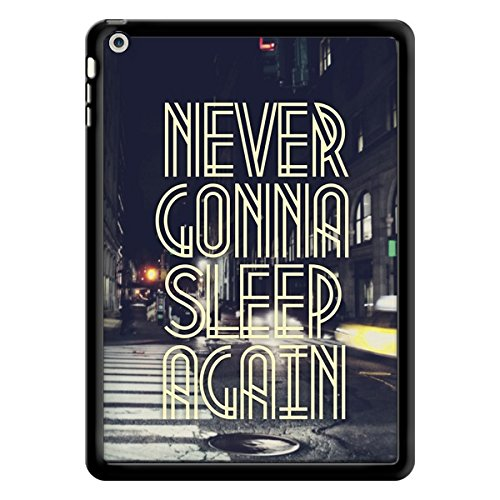 coques-iphone - Cover Never Gonna Sleep New York City per iPad Air di Javier Martinez - Contour Nero