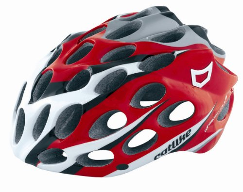 Catlike Whisper Plus - Casco de ciclismo para adulto multicolor Red/White/Black Talla:S = 50-53cm