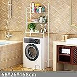 Cremagliera bagno cremagliera bagno a tre livelli cremagliera bagno bagno finitura cremagliera lavatrice cremagliera bianco lavatrice cremagliera 68x26x158 cm