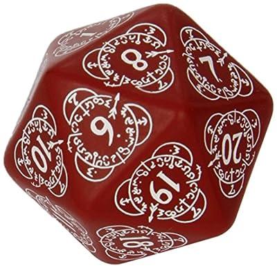 D20 rouge & blanche Compteur des niveaux