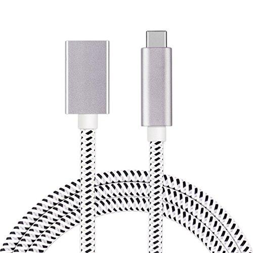 USB C Verlängerungskabel Geflochten auf USB 3.1 Gen 2 [10Gbps