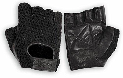 A-pro Fingerlose Handschuhe Biker Weiches Leder Rindsleder Motorrad Punk Schwarz (Fingerlose Handschuhe Schwarze Motorrad)