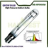 Norma de la UE E40400W Super lúmenes bombillas de sodio de alta presión crecimiento lámpara de crecimiento de plantas luces HPS para floración, Paquete de 2, 24000h vida