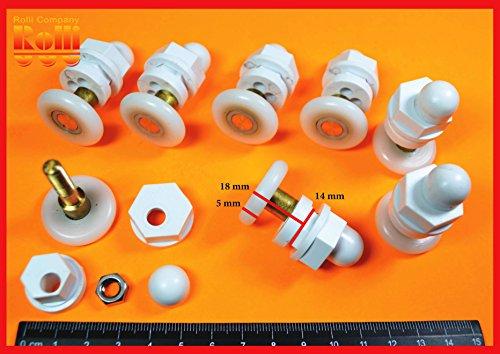 8-rulli-ruote-cuscinetti-per-la-porta-doccia-cabina-hs088-d-23mm