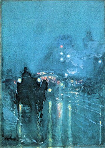 Das Museum Outlet-NOCTURNE, Bahnübergang, Chicago by Hassam-Poster (61x 45,7cm)