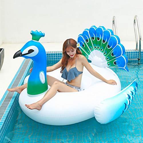 ZQQZ Piscina Gigante Flotador con alas Playa Flotadores Nadar Fiesta Juguetes Piscina Isla Verano Piscina Balsa Salón para Adultos Niños (Color : C190cm)