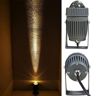 iBalody Long Distance Cob Garten Rasen Lampe Licht 220 V 110 V Outdoor LED Spike Licht 10 Watt Pfad Landschaft Wasserdicht (Color : Yellow)