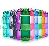 Grsta Sport Trinkflasche, 1000ml/32oz - BPA frei Tritan Kunststoff Wasserflasche, Auslaufsicher Sporttrinkflaschen für Laufen, Yoga, Fahrrad, Kinder Schule, Wasser Flaschen mit Sieb, Ein Klick Geöffnet(Jaspis)