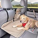 Kurgo Rücksitz Barriere mit Sitz-Erweiterung für Hunde, Geeignet für die meisten Autos und SUVs, Für Hunde bis 45 kg, Wendbar, Schwarz/Sand, Backseat Bridge, 01137