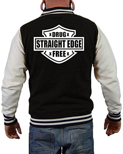 Straight Edge Drug Free Jacke Schwarz/Weiß