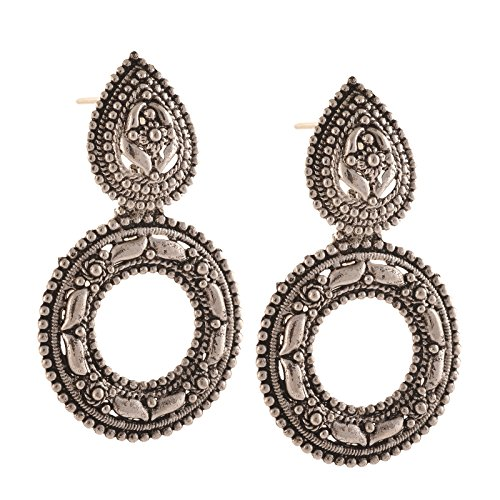 Zephyrr Fashion German Silver Hook dangler Earrings for Women  available at amazon for Rs.139