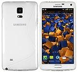 mumbi S-TPU Schutzhülle für Samsung Galaxy Note 4 Hülle transparent weiss