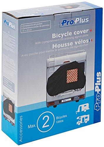 ProPlus 330286 Fahrrad-Schutzhülle mit Einsteck-Tasche für Warntafel, Heckmontage