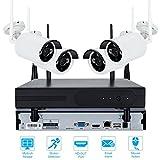 4CH CCTV System HDMI NVR 4 STÜCKE IR P2P Wireless IP CCTV Kamera 720 P/960 P/108 P Sicherheitssystem IP Kamera Surveillance Kit (720P)