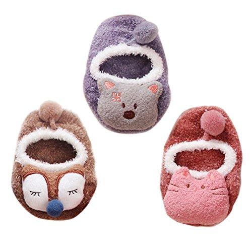 Happy Cherry - Socks for Baby Homewear Socks para Bebé Niños Calcetines Antideslizante para Niñas...