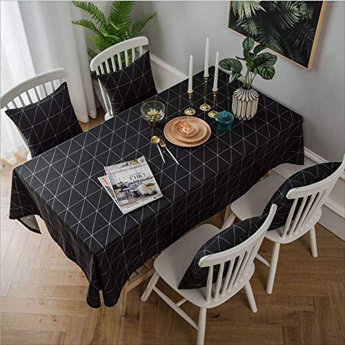 Zbinbin tovaglia moderna minimalista geometrica cotone lino art 100x140cm nero
