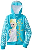 Girls Frozen Elsa Fleece Jacket Turquoise 4 Years Turquoise